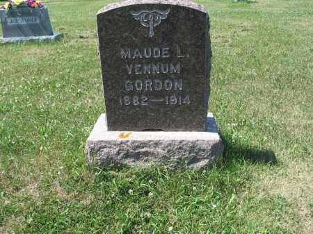 VENNUM GORDON 501, MAUDE L. - LaMoure County, North Dakota | MAUDE L. VENNUM GORDON 501 - North Dakota Gravestone Photos