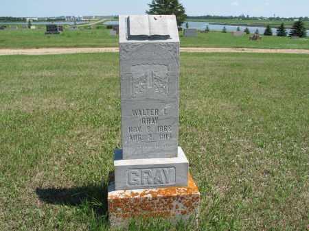 GRAY 587, WALTER L. - LaMoure County, North Dakota   WALTER L. GRAY 587 - North Dakota Gravestone Photos