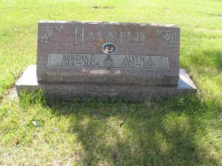 HANNELD 123, BERTHA E. - LaMoure County, North Dakota | BERTHA E. HANNELD 123 - North Dakota Gravestone Photos