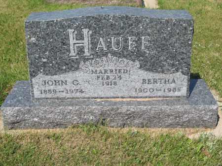 HAUFF 236, BERTHA - LaMoure County, North Dakota | BERTHA HAUFF 236 - North Dakota Gravestone Photos