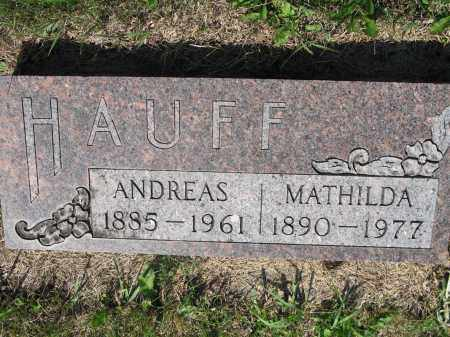 HAUFF 306, MATHILDA - LaMoure County, North Dakota | MATHILDA HAUFF 306 - North Dakota Gravestone Photos