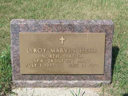 HEHR 215, LEROY MARVIN - LaMoure County, North Dakota   LEROY MARVIN HEHR 215 - North Dakota Gravestone Photos