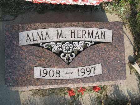 HERMAN 011, ALMA MIRANDA - LaMoure County, North Dakota   ALMA MIRANDA HERMAN 011 - North Dakota Gravestone Photos