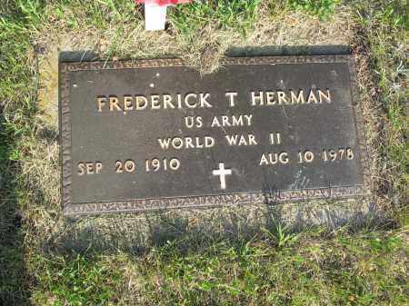 HERMAN 015, FREDERICK T. - LaMoure County, North Dakota | FREDERICK T. HERMAN 015 - North Dakota Gravestone Photos