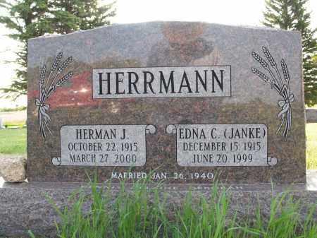 JANKE HERRMANN 024, EDNA C. - LaMoure County, North Dakota | EDNA C. JANKE HERRMANN 024 - North Dakota Gravestone Photos