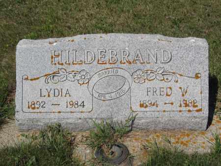 HILDEBRAND 328, FRED W. - LaMoure County, North Dakota | FRED W. HILDEBRAND 328 - North Dakota Gravestone Photos