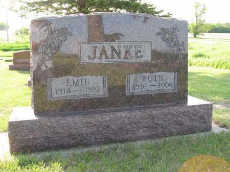 JANKE 029, RUTH E. - LaMoure County, North Dakota | RUTH E. JANKE 029 - North Dakota Gravestone Photos