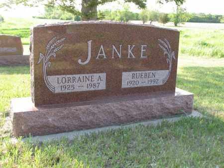 JANKE 033, LORRAINE A. - LaMoure County, North Dakota | LORRAINE A. JANKE 033 - North Dakota Gravestone Photos