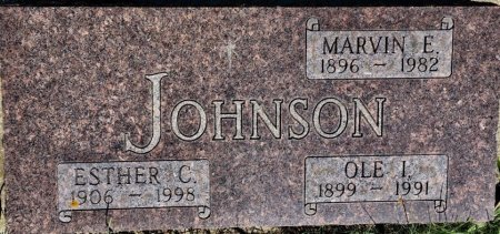 JOHNSON, MARVIN E. - LaMoure County, North Dakota   MARVIN E. JOHNSON - North Dakota Gravestone Photos