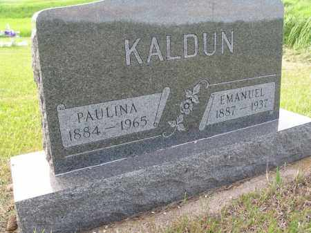 KALDUN 035, PAULINA - LaMoure County, North Dakota | PAULINA KALDUN 035 - North Dakota Gravestone Photos