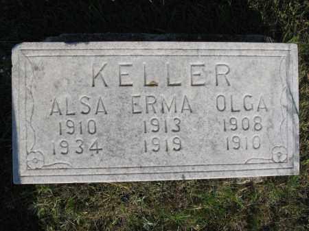 KELLER 037, ERMA - LaMoure County, North Dakota | ERMA KELLER 037 - North Dakota Gravestone Photos