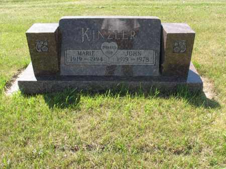 KINZLER 049, MARIE - LaMoure County, North Dakota   MARIE KINZLER 049 - North Dakota Gravestone Photos