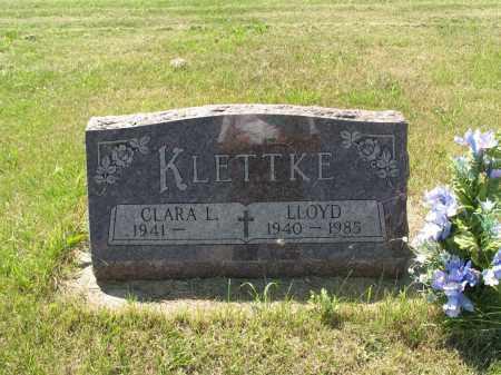 KLETTKE 052, LLOYD - LaMoure County, North Dakota   LLOYD KLETTKE 052 - North Dakota Gravestone Photos