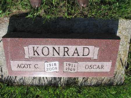 KONRAD 057, OSCAR - LaMoure County, North Dakota | OSCAR KONRAD 057 - North Dakota Gravestone Photos