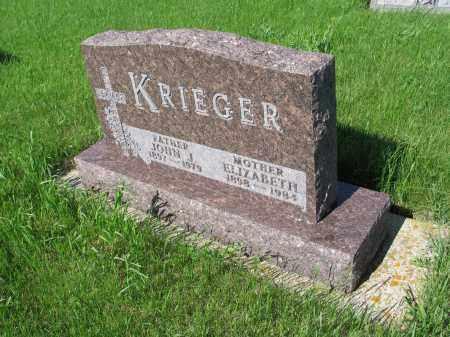 KRIEGER 011, ELIZABETH - LaMoure County, North Dakota | ELIZABETH KRIEGER 011 - North Dakota Gravestone Photos