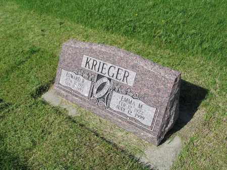 KRIEGER 039, EDWARD R. - LaMoure County, North Dakota   EDWARD R. KRIEGER 039 - North Dakota Gravestone Photos