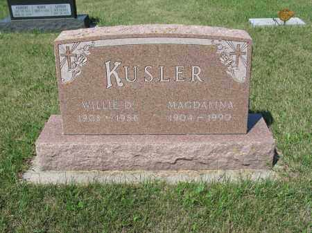 KUSLER 297, WILLIE DANIEL - LaMoure County, North Dakota | WILLIE DANIEL KUSLER 297 - North Dakota Gravestone Photos