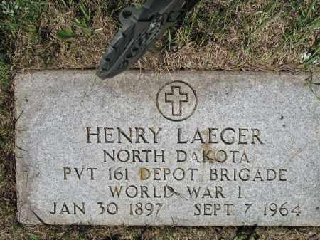LAEGER 378, HENRY - LaMoure County, North Dakota   HENRY LAEGER 378 - North Dakota Gravestone Photos