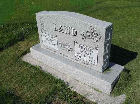 LAND 027, PHYLLIS SONJA - LaMoure County, North Dakota | PHYLLIS SONJA LAND 027 - North Dakota Gravestone Photos