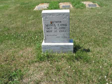 LANG 490, MARIA - LaMoure County, North Dakota | MARIA LANG 490 - North Dakota Gravestone Photos