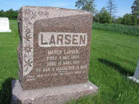 LARSEN 002, MAREN - LaMoure County, North Dakota   MAREN LARSEN 002 - North Dakota Gravestone Photos