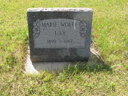 WOLFF LAY 134, MARIE - LaMoure County, North Dakota | MARIE WOLFF LAY 134 - North Dakota Gravestone Photos