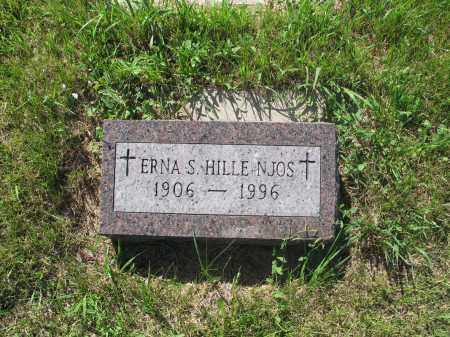NJOS-HILLE 094, ERNA S. - LaMoure County, North Dakota | ERNA S. NJOS-HILLE 094 - North Dakota Gravestone Photos