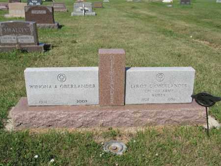 OBERLANDER 270, LEROY L. - LaMoure County, North Dakota | LEROY L. OBERLANDER 270 - North Dakota Gravestone Photos