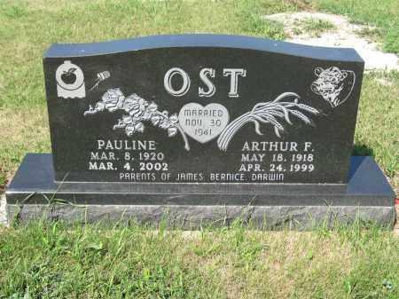OST 239, ARTHUR F. - LaMoure County, North Dakota   ARTHUR F. OST 239 - North Dakota Gravestone Photos