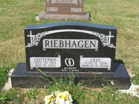 RIEBHAGEN 268, LILIA - LaMoure County, North Dakota | LILIA RIEBHAGEN 268 - North Dakota Gravestone Photos