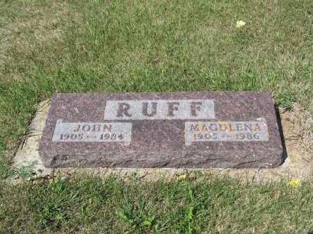 RUFF 296, MAGDLENA - LaMoure County, North Dakota | MAGDLENA RUFF 296 - North Dakota Gravestone Photos