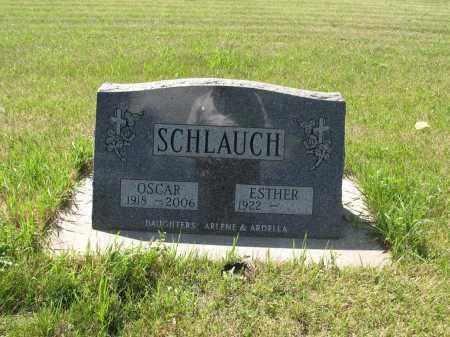 SCHLAUCH 028, ESTHER - LaMoure County, North Dakota   ESTHER SCHLAUCH 028 - North Dakota Gravestone Photos