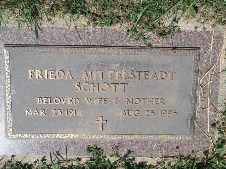 SCHOTT 436, FRIEDA - LaMoure County, North Dakota | FRIEDA SCHOTT 436 - North Dakota Gravestone Photos