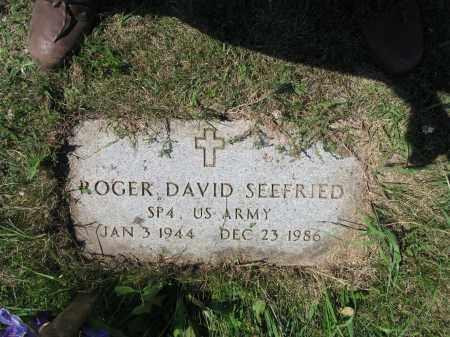 SEEFRIED 558, ROGER DAVID - LaMoure County, North Dakota | ROGER DAVID SEEFRIED 558 - North Dakota Gravestone Photos