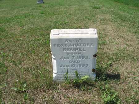 SEMPEL 531, ELIZABETH E. - LaMoure County, North Dakota   ELIZABETH E. SEMPEL 531 - North Dakota Gravestone Photos