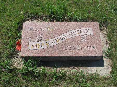 KOSANKE STENGLE-WELLSANDT 015, ANNIE MARIE - LaMoure County, North Dakota   ANNIE MARIE KOSANKE STENGLE-WELLSANDT 015 - North Dakota Gravestone Photos