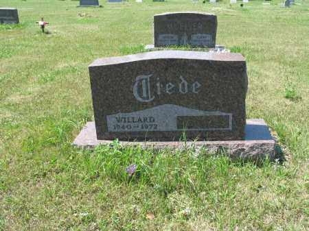 TIEDE 577, WILLARD JOHN - LaMoure County, North Dakota | WILLARD JOHN TIEDE 577 - North Dakota Gravestone Photos