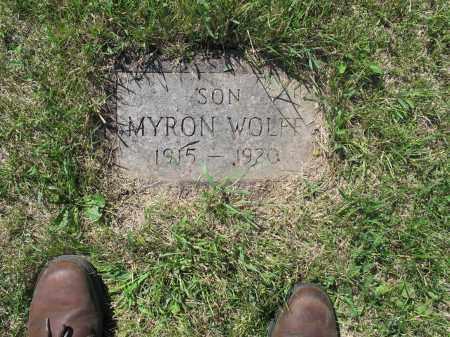 WOLFF 035, MYRON - LaMoure County, North Dakota   MYRON WOLFF 035 - North Dakota Gravestone Photos