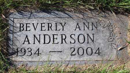 ANDERSON, BEVERLY ANN - Logan County, North Dakota | BEVERLY ANN ANDERSON - North Dakota Gravestone Photos