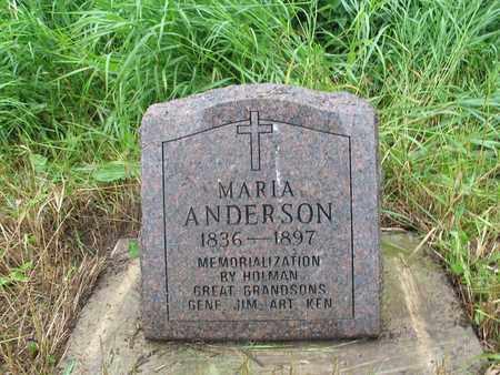 ANDERSON, MARIA - Logan County, North Dakota | MARIA ANDERSON - North Dakota Gravestone Photos