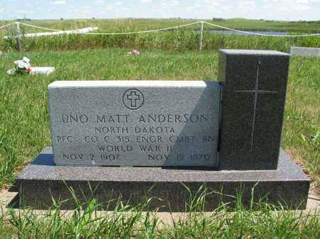 ANDERSON, UNO MATT - Logan County, North Dakota | UNO MATT ANDERSON - North Dakota Gravestone Photos