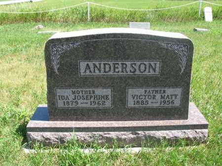 ANDERSON, VICTOR MATT - Logan County, North Dakota   VICTOR MATT ANDERSON - North Dakota Gravestone Photos
