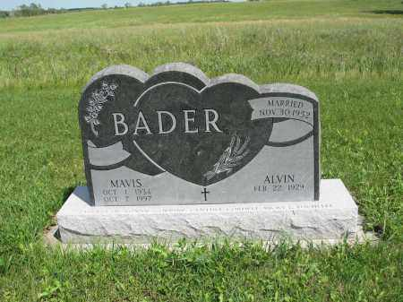 BADER 192, ALVIN - Logan County, North Dakota | ALVIN BADER 192 - North Dakota Gravestone Photos
