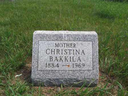BAKKILA, CHRISTINA - Logan County, North Dakota | CHRISTINA BAKKILA - North Dakota Gravestone Photos