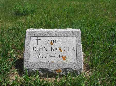 BAKKILA, JOHN - Logan County, North Dakota | JOHN BAKKILA - North Dakota Gravestone Photos