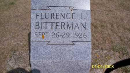 BITTERMAN, FLORENCE L. - Logan County, North Dakota | FLORENCE L. BITTERMAN - North Dakota Gravestone Photos