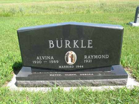 RUDOLPH BUERKLE 193, ALVINA - Logan County, North Dakota   ALVINA RUDOLPH BUERKLE 193 - North Dakota Gravestone Photos