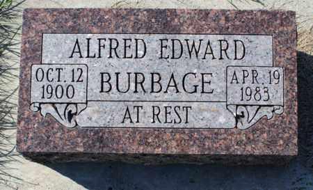 BURBAGE, ALFRED EDWARD - Logan County, North Dakota | ALFRED EDWARD BURBAGE - North Dakota Gravestone Photos