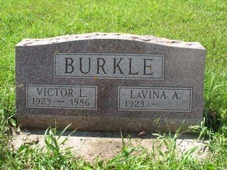 BURKLE 196, LAVINA A. - Logan County, North Dakota | LAVINA A. BURKLE 196 - North Dakota Gravestone Photos