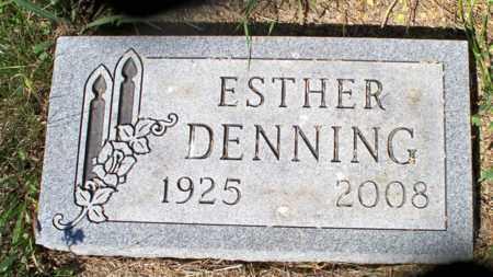 DENNING, ESTHER - Logan County, North Dakota   ESTHER DENNING - North Dakota Gravestone Photos